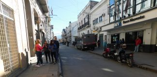 España, entre Mítre y Balcarce, hacia el oeste. Será peatonal por tres cuadras desde Zuviría.